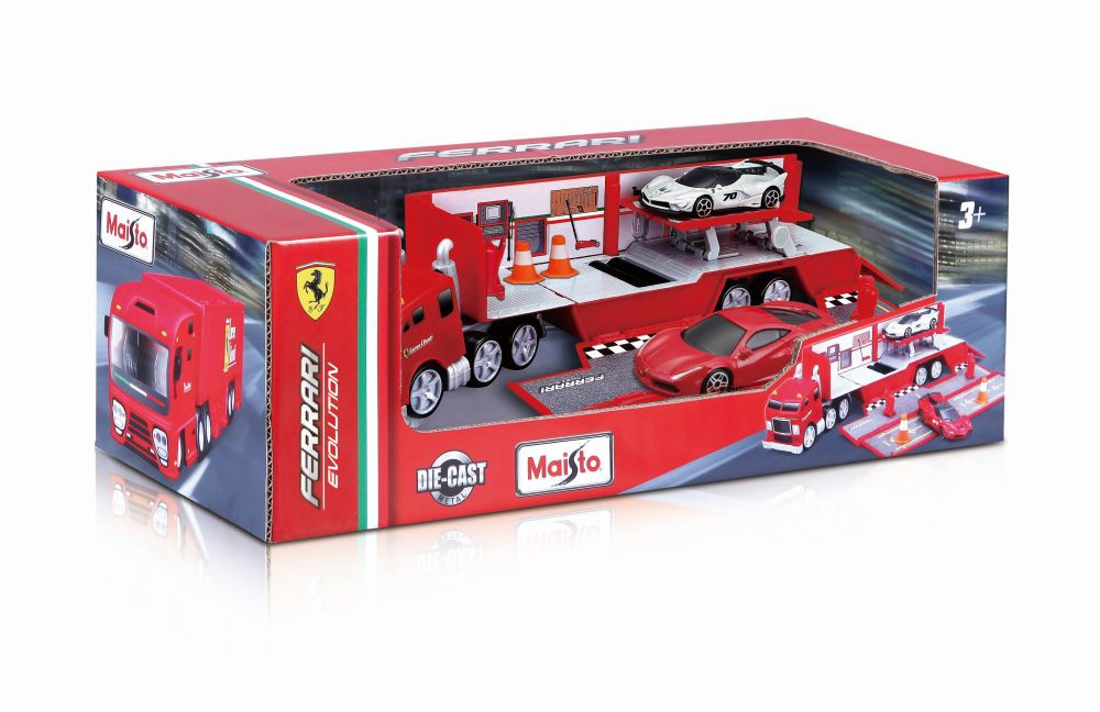 "Fresh Metal Ferrari Evolution Hauler with 2x 3"" Cars"