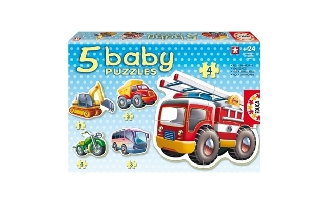 Baby Vehicles Puzzles (5 Asst) 24+ Months