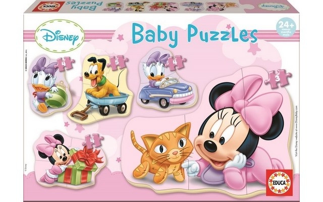 Baby Puzzles - Minnie (5 Asst) 24+ Months