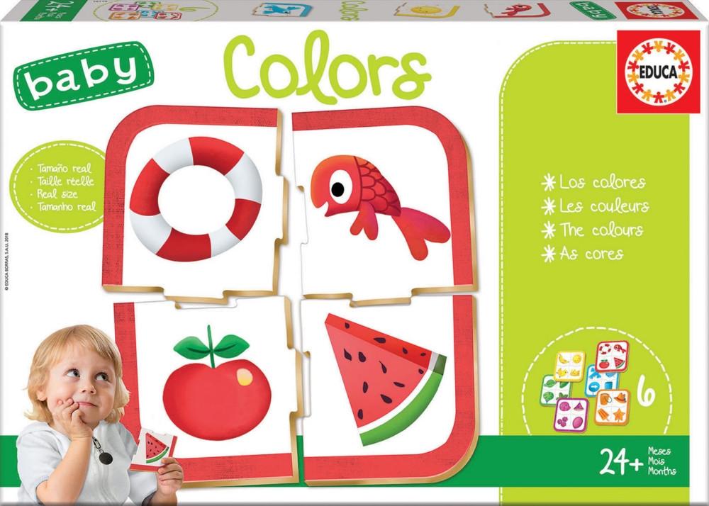 Baby Educational Puzzle - Colours (6 Asst) 24+ Months