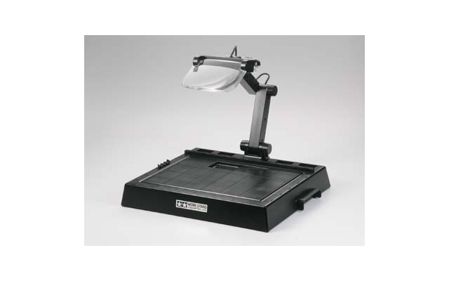 Work Stand with Magnifying Lens
