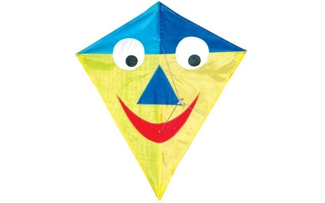 Diamond Kite Single Line (SmileyFace) 60x70cm