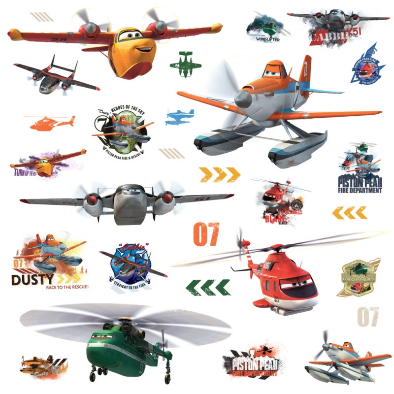 Planes Fire & Rescue Peel & Stick Wall Decals