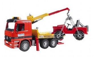 Mercedes-Benz Actros Breakdown Truck with Vehicle