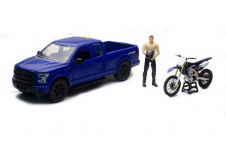 1/14 Ford F-150 with Motorcycle (Asst)