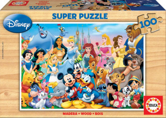 The Wonderful World Of Disney Wooden Puzzle (1x100pc)