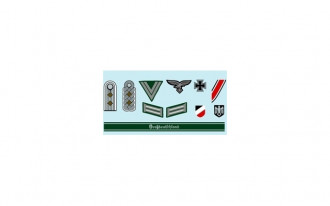 1/16 and 1/35 World War II German Military Insignia Decal Set