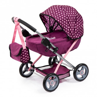 Cosy Doll's Pram with Bag & Accessories (Purple)