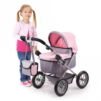 Trendy Doll's Pram (Pink/Grey)