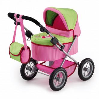 Trendy Doll's Pram (Pink / Green)