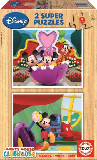 Mickey Mouse Club House Puzzles (2x9pc)