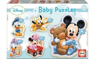 Baby Puzzles - Mickey (5 Asst) 24+ Months