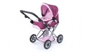 Maxi Doll's Pram - Pink/Butterly