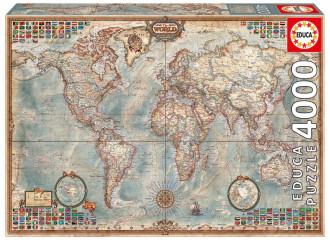 Historic World Map (1x4000pc) Puzzle