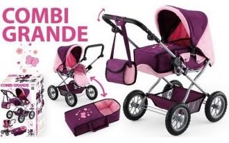 Combi Grande Doll's Pram (Purple/Pink)