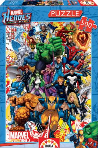Marvel Heroes (1x500pc) Puzzle