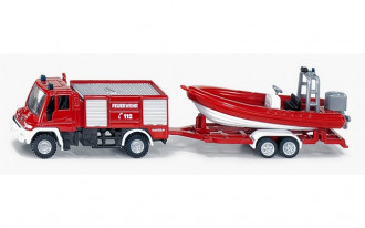 Mercedes-Benz Unimog Fire Engine with Boat
