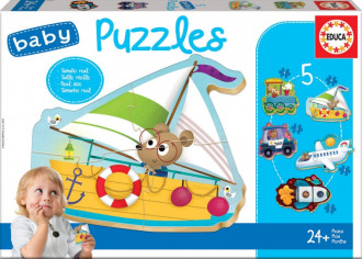 Baby Vehicles (5 Puzzles) 24+ Months