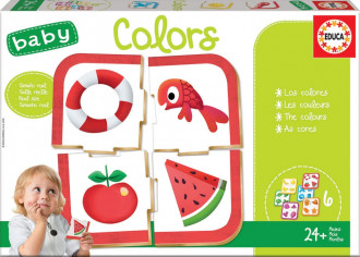 Baby Educational Puzzle - Colours (6 Asst) 24+ Months
