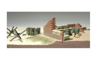 1/48 Brick Wall, Sand Bag and Barricade Set