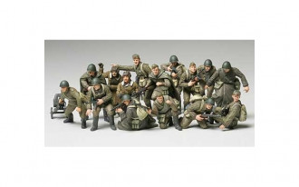1/48 WWII Russian Infantry and Tank Crew Set