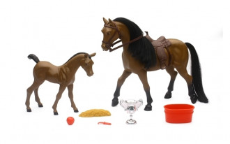 1/9 Horse and Foal with Hair Set (2 Asst)