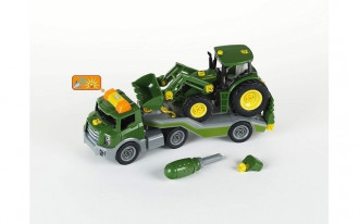 John Deere Tractor with front loader on Transporter