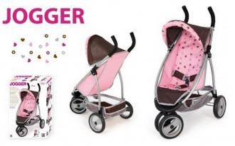 Jogger Sport Doll's Pram (Pink/Brown)