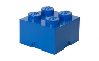 LEGO Storage Brick 4 Knob (25cm)  - Blue