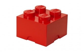 LEGO Storage Brick 4 Knob (25cm) - Red