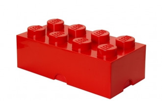 LEGO Storage Brick 8 Knob (50cm)  - Red