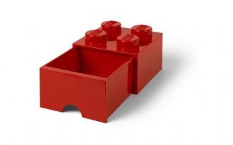 LEGO Brick Drawer 4 Knob (25cm) - Red