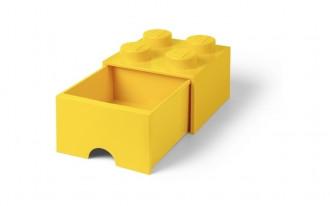 LEGO Brick Drawer 4 Knob (25cm) - Yellow