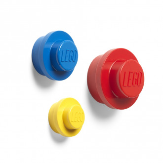 LEGO Wall Hangers (Set of 3 - Red, Blue, Yellow)