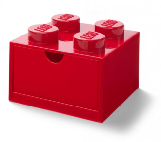 LEGO Desk Drawer 4 (16cm) - Red