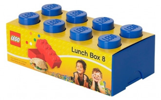 LEGO Lunch Box 8 Knob (20cm) - Blue
