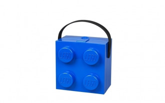 LEGO Lunch Box with Handle 4 Knob (16cm) - Blue