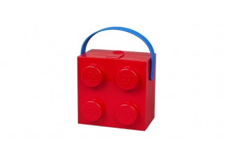 LEGO Lunch Box with Handle 4 Knob (16cm) - Red