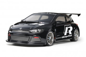 R/C 1/10 VW Scirocco GT - Black Painted Body (TT01E)