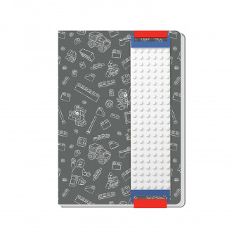 LEGO Journal with Building Band (Grey)