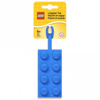 LEGO 2x4 Blue Luggage Tag
