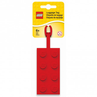 LEGO 2x4 Red Luggage Tag