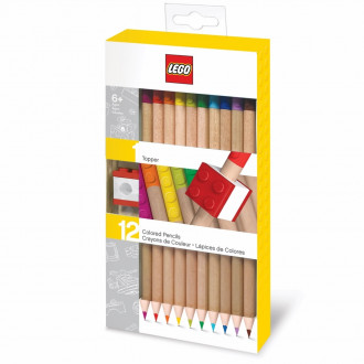 LEGO Coloured Pencils with Toppers (12pcs)