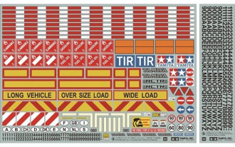 1/14 Tractor Truck Trailer Sticker