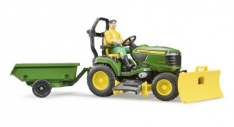 John Deere Lawn Tractor with Trailer & Gardener