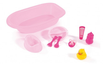 Doll's Bathtub Set with 8 accessories