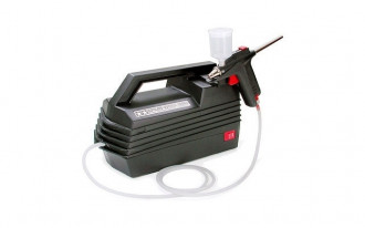 Spray-Work Compressor with Airbrush