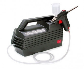 Spray-Work Compressor with Airbrush