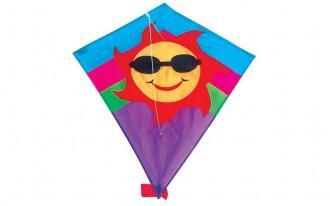 Diamond Kite Single Line (Sun) 60x70cm