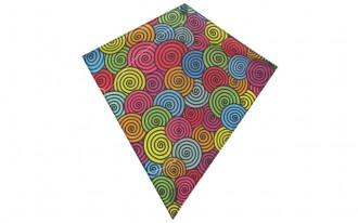 Diamond Kite Single Line (Multi-colour) 60x70cm